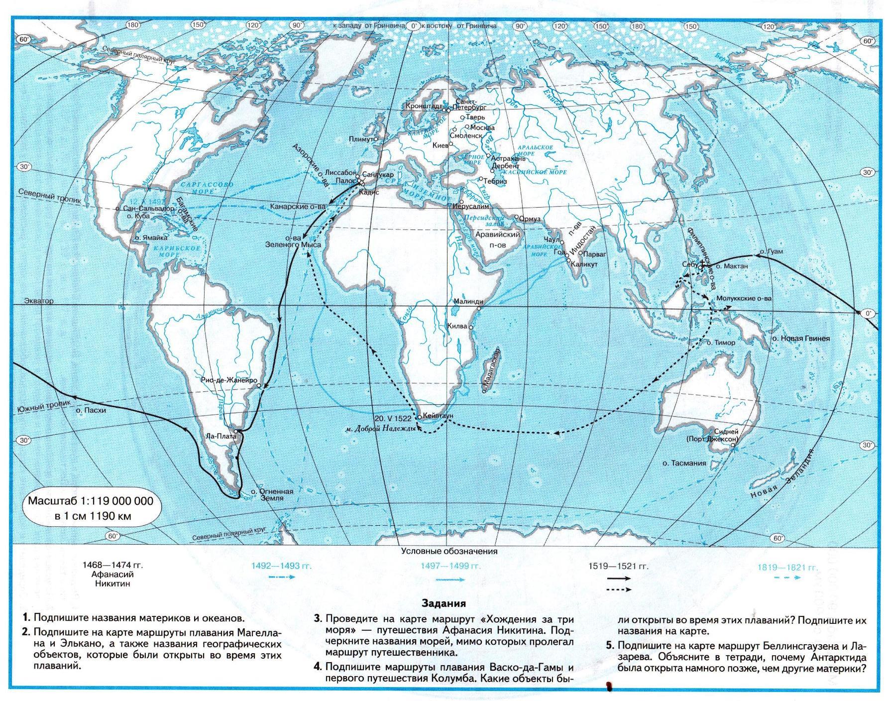 Контурная карта по географии 6 класс галай топографическая карта