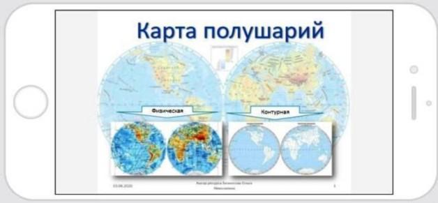 карта полушарий титльная страница